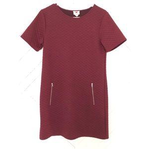 ONE CLOTHING BURGANDY SHORT DRESS